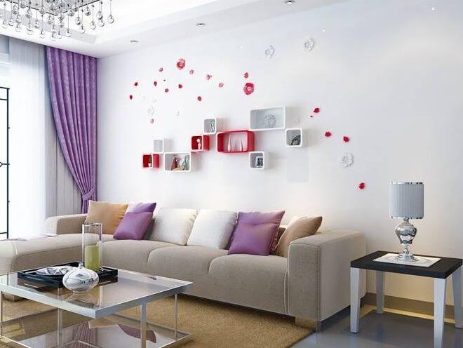5 ý tưởng trang trí tường nhà độc đáo cho phòng khách