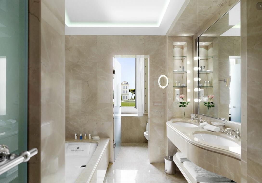 Tư vấn thiết kế nội thất phòng tắm có sử dụng bồn tắm cực đẹp