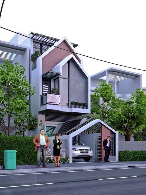 Mẫu thiết kế nhà đẹp 2018 phù hợp cho nhà mặt phố