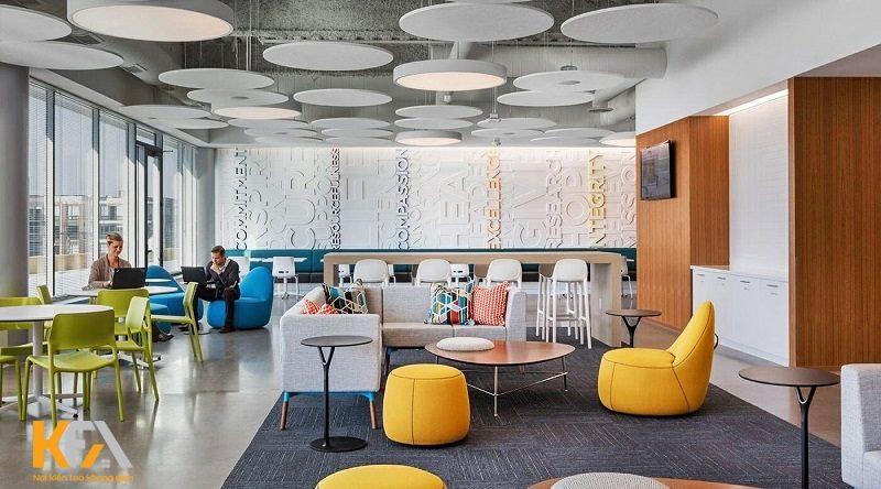 Xu hướng thiết kế nội thất văn phòng diện tích 40m2